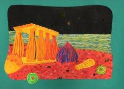 Bild nach Friedrich von Hundertwasser