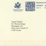 Ein Brief vom American Embassy